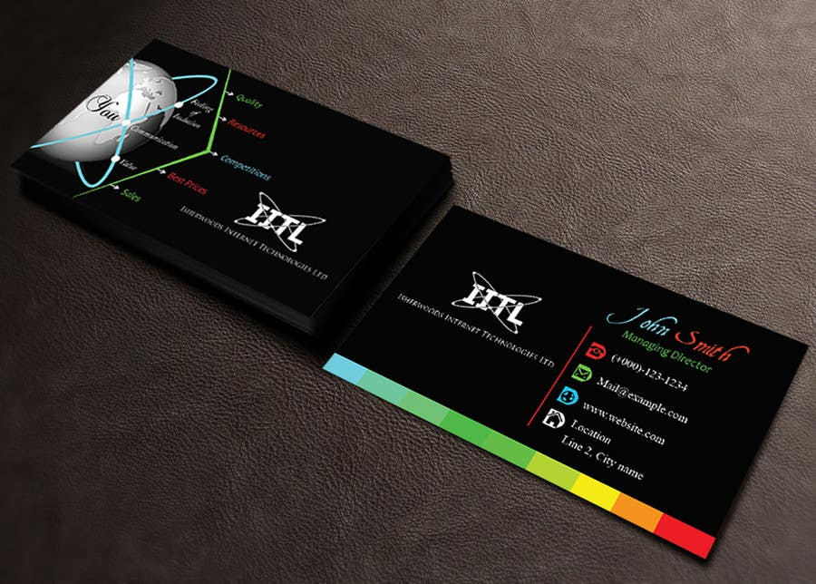 Entry #65 by sanratul001 for Design some Business Cards for an IT ...
