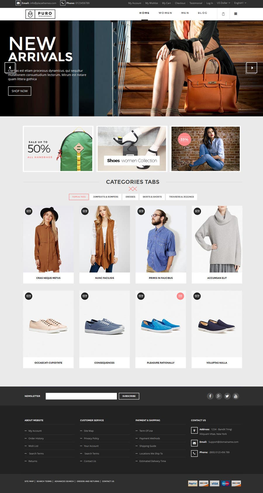Contest Entry #                                        6                                      for                                         Design the homepage of Fashion eCommerce store