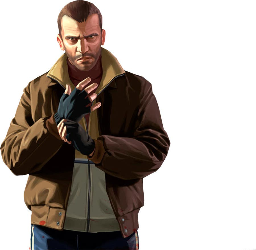 """Contest Entry #                                        7                                      for                                         Illustrate a provided character in """"Grand Theft Auto V""""  poster style."""