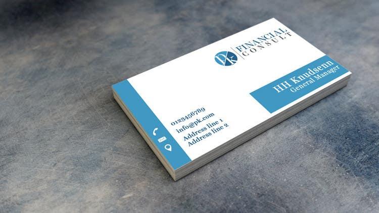 "Bài tham dự cuộc thi #102 cho Design Logo and Business Cards for ""PK Financial Consult"""