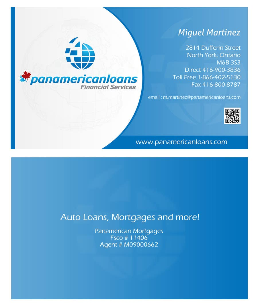 #16 for Design some Business Cards for Panamerican Loans by leadvisit
