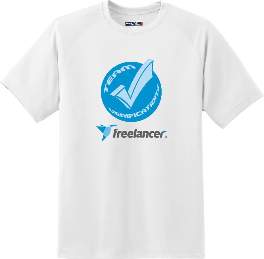 Contest Entry #                                        24                                      for                                         Design a T-Shirt for Freelancer.com's Verifications Team