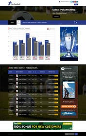"#10 cho Simple website layout for ""Football prediction"" bởi ankisethiya"
