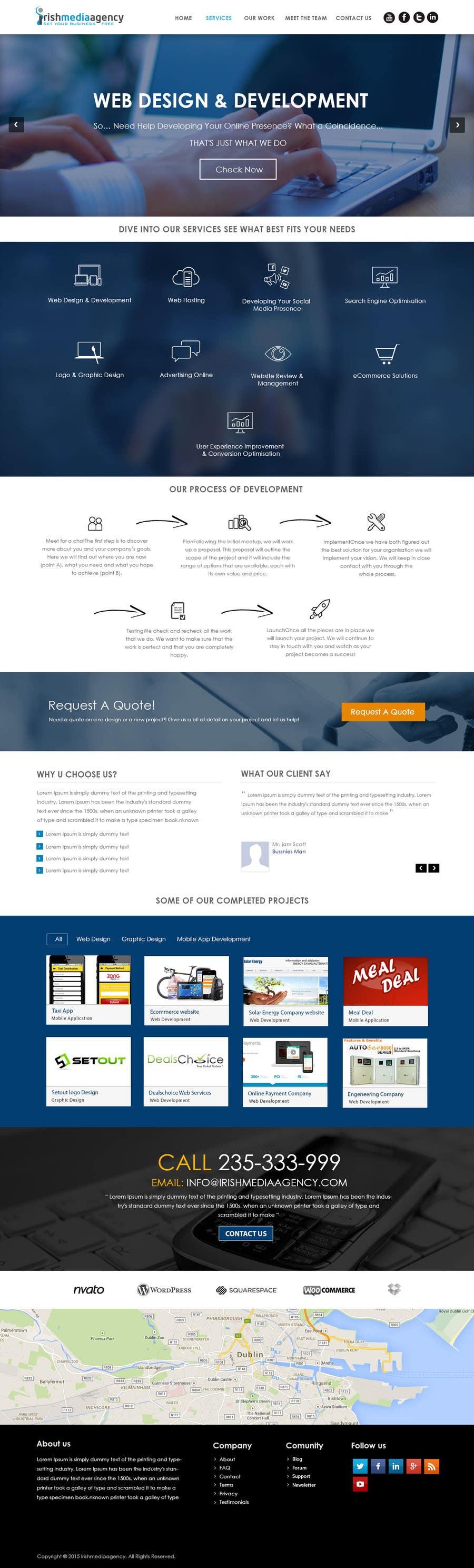 Konkurrenceindlæg #18 for Design a Website Mockup for Irish Media Agency