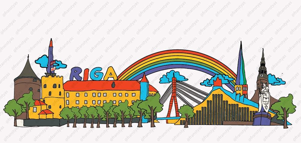 Konkurrenceindlæg #                                        10                                      for                                         City panorama cartoon illustration