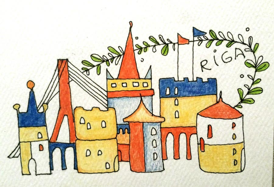 Konkurrenceindlæg #                                        1                                      for                                         City panorama cartoon illustration
