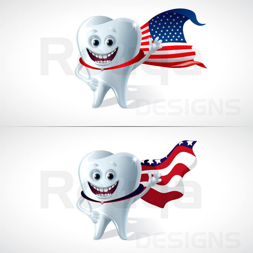 Konkurrenceindlæg #                                        8                                      for                                         Tooth with American flag