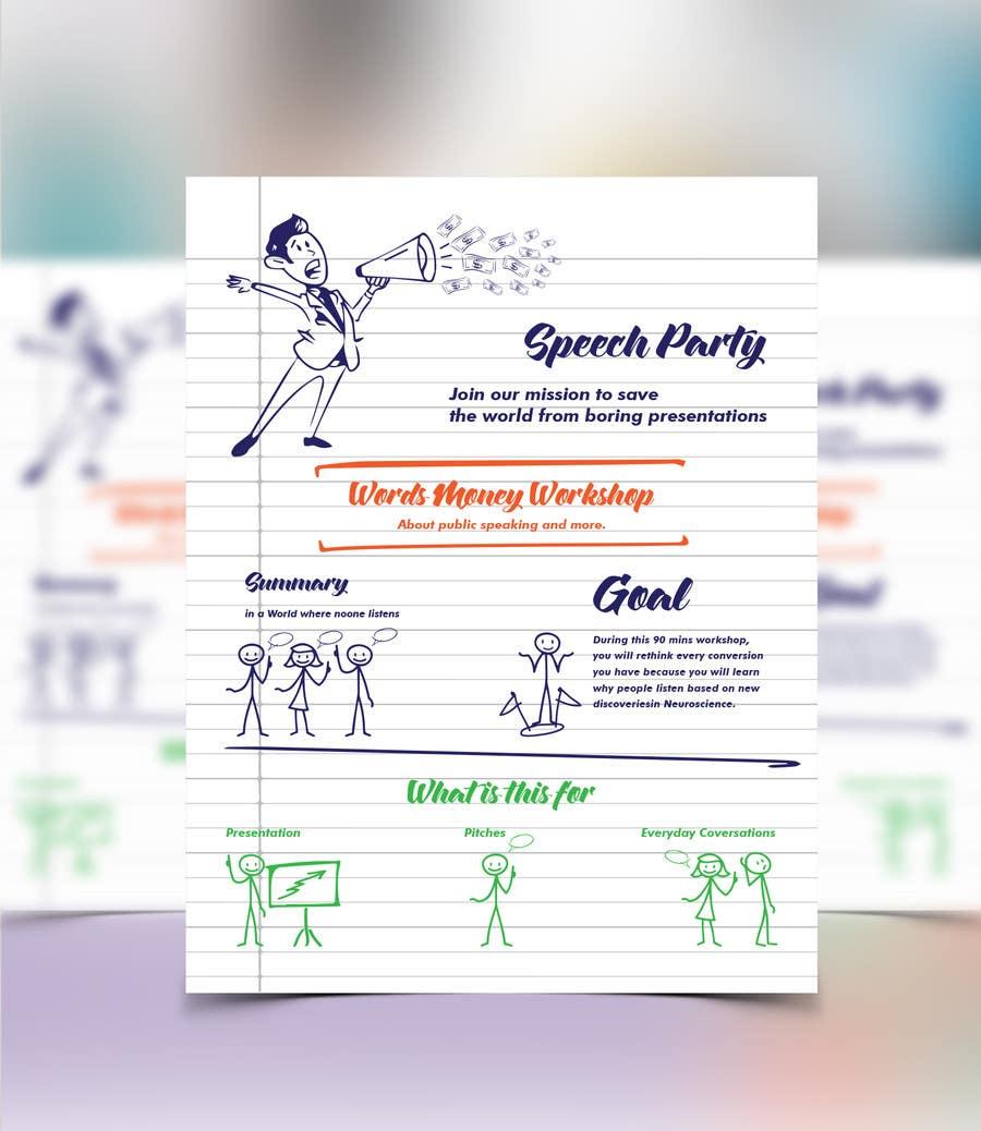 Konkurrenceindlæg #6 for Design a Flyer for Our Workshop: Words = Money