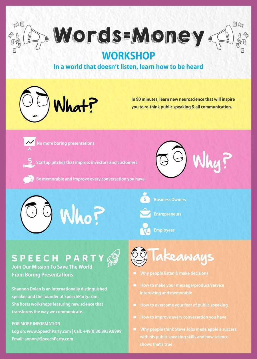 Konkurrenceindlæg #                                        10                                      for                                         Design a Flyer for Our Workshop: Words = Money