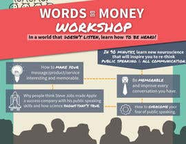 brobos tarafından Design a Flyer for Our Workshop: Words = Money için no 8