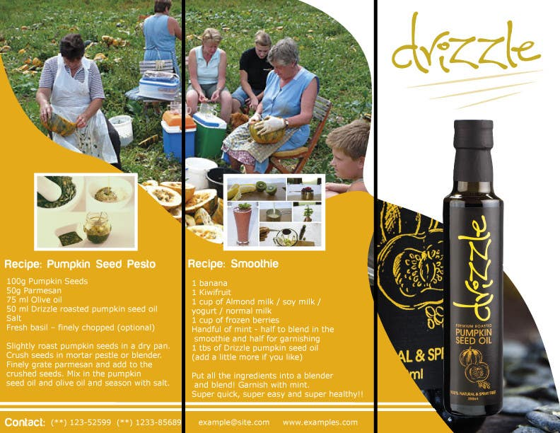 Contest Entry #                                        16                                      for                                         Flowing brochure for premium, high-end food product.