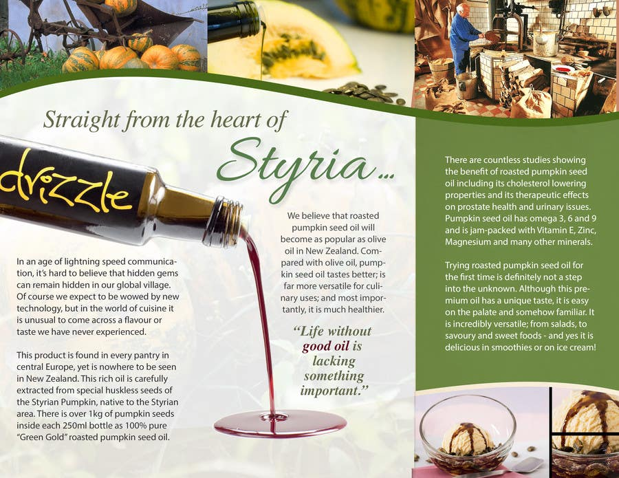 Contest Entry #                                        1                                      for                                         Flowing brochure for premium, high-end food product.