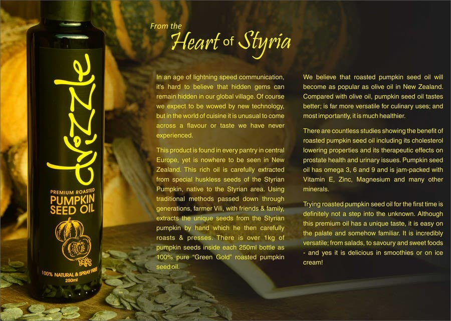 Contest Entry #                                        19                                      for                                         Flowing brochure for premium, high-end food product.