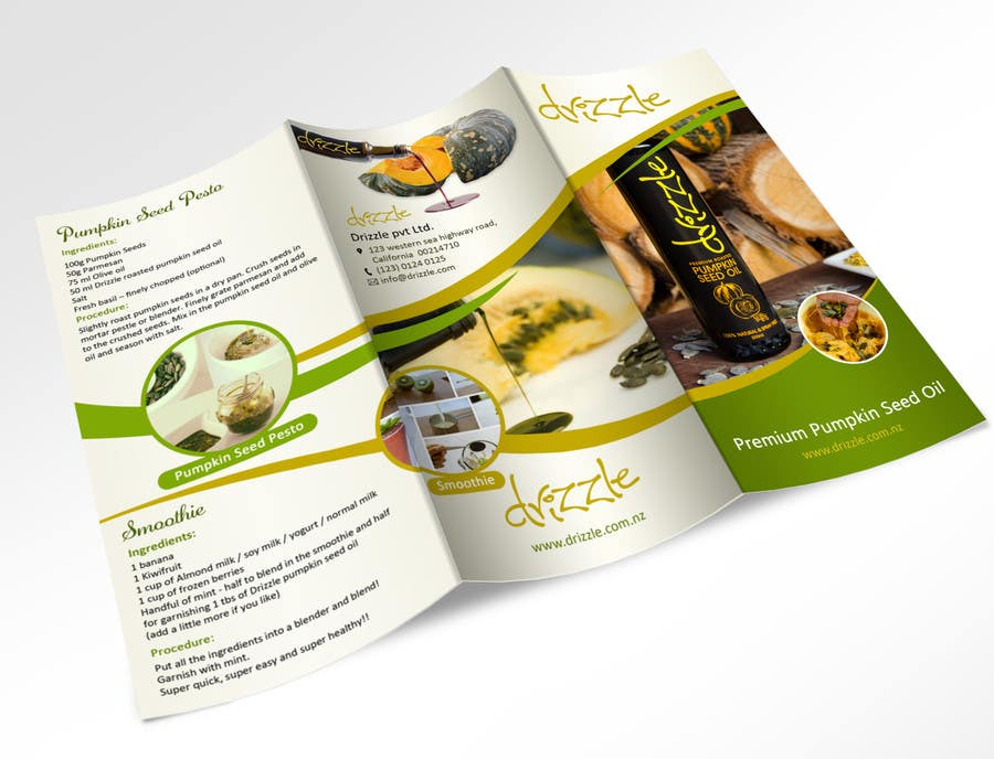 Contest Entry #                                        20                                      for                                         Flowing brochure for premium, high-end food product.