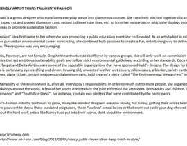 #14 for Write two short articles about SUSTAINABILITY and DESIGN (150 words each) by EDStudio2614