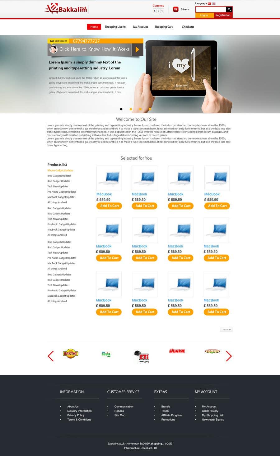 #43 for Design a Website Mockup for ONLINE SUPER MARKET by himel302