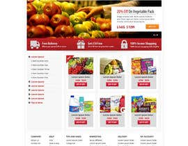 #6 para Design a Website Mockup for ONLINE SUPER MARKET por Pavithranmm