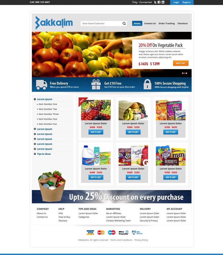 #13 for Design a Website Mockup for ONLINE SUPER MARKET by Pavithranmm