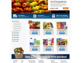 #13 para Design a Website Mockup for ONLINE SUPER MARKET por Pavithranmm