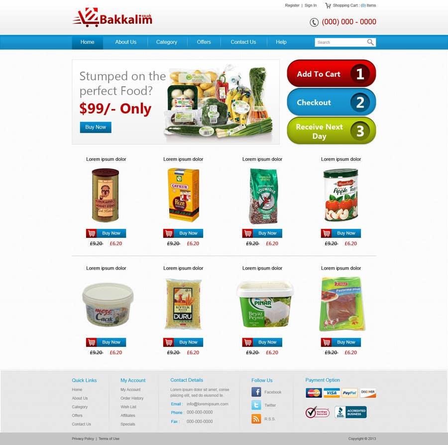 #38 for Design a Website Mockup for ONLINE SUPER MARKET by nitinatom