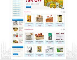 #39 para Design a Website Mockup for ONLINE SUPER MARKET por nitinatom