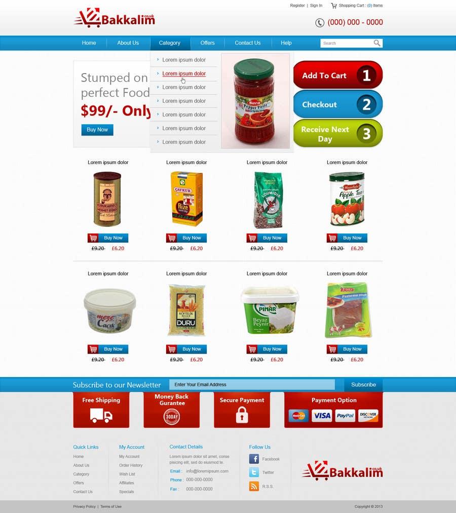 #40 for Design a Website Mockup for ONLINE SUPER MARKET by nitinatom