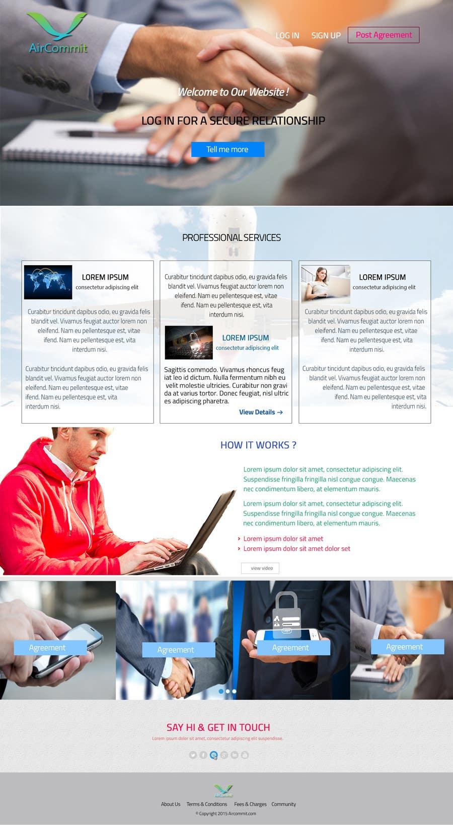 Konkurrenceindlæg #                                        5                                      for                                         Design a Website Mockup for AirCommit