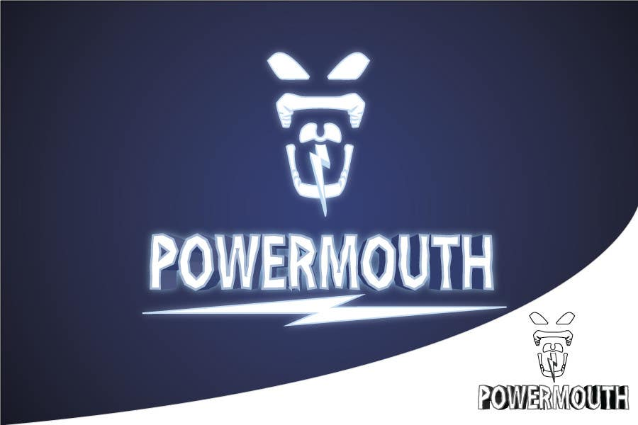 """Kandidatura #                                        54                                     për                                         Logo and Symbol Design for """"POWERMOUTH"""", melodic industrial metal band"""