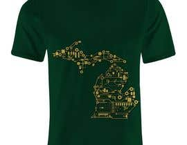 #5 untuk Design a circuit board graphic for a Michigan T-Shirt oleh nasstaran