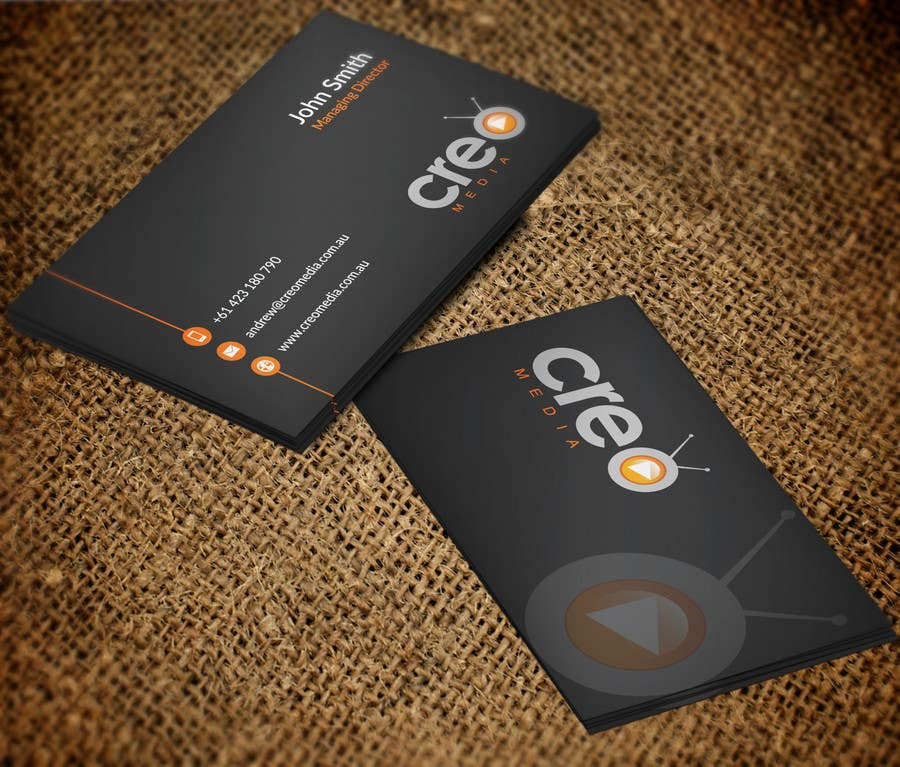 Contest Entry #                                        57                                      for                                         Design some Business Cards for Creo Media