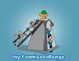 #2 untuk Illustrate Something for My Tennis Challenge oleh kangian