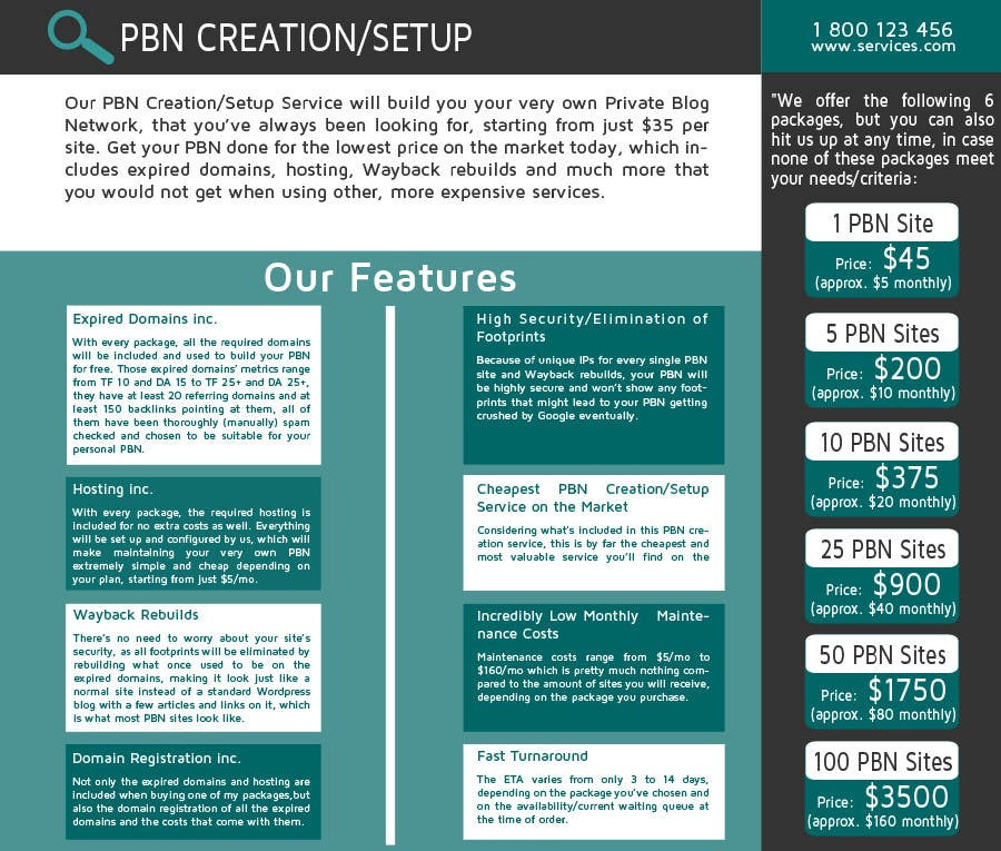 Konkurrenceindlæg #11 for Design an Advertisement for an SEO-related Service (PBN Creation/Setup Service)
