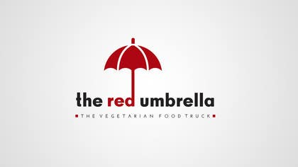 #28 for Design a Logo for The Red Umbrella - A Vegetarian Food Truck af picitimici