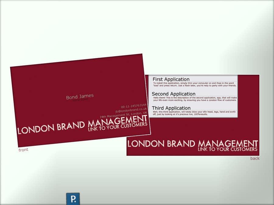 Penyertaan Peraduan #                                        48                                      untuk                                         Business Card Design for London Brand Management