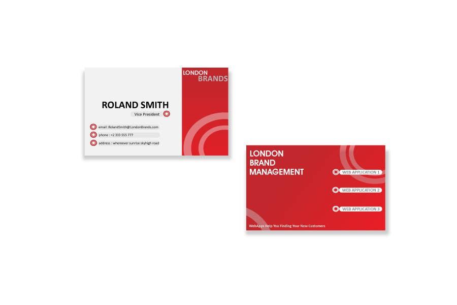Penyertaan Peraduan #                                        20                                      untuk                                         Business Card Design for London Brand Management