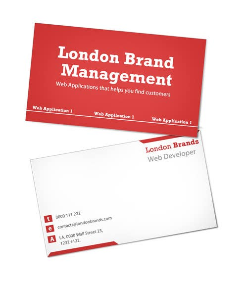 Penyertaan Peraduan #                                        4                                      untuk                                         Business Card Design for London Brand Management