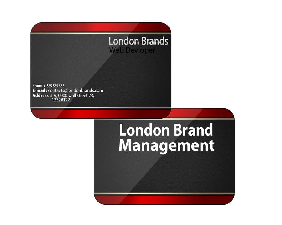 Penyertaan Peraduan #                                        42                                      untuk                                         Business Card Design for London Brand Management