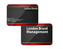 #42 untuk Business Card Design for London Brand Management oleh Thegodfather1