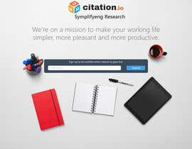 #60 para Design a simple landing page for citation.io por AgeevAlecksey