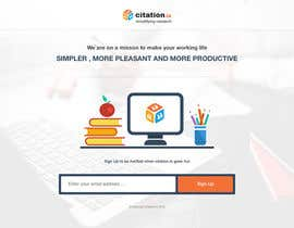 #35 para Design a simple landing page for citation.io por mostafahawary