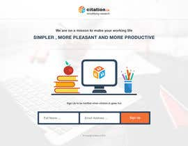 #44 para Design a simple landing page for citation.io por mostafahawary