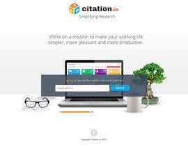 #25 para Design a simple landing page for citation.io por creationofsujoy