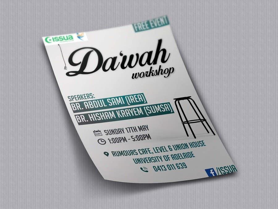 """Konkurrenceindlæg #44 for """"Da'wah Workshop"""" - Islamic Flyer"""