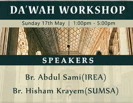 "nº 42 pour ""Da'wah Workshop"" - Islamic Flyer par razikabdul"