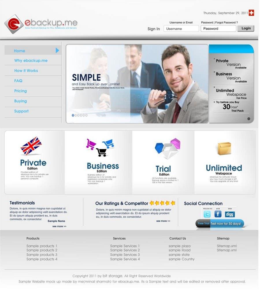 Contest Entry #                                        75                                      for                                         Website Design for Ebackup.me Online Backup Solution