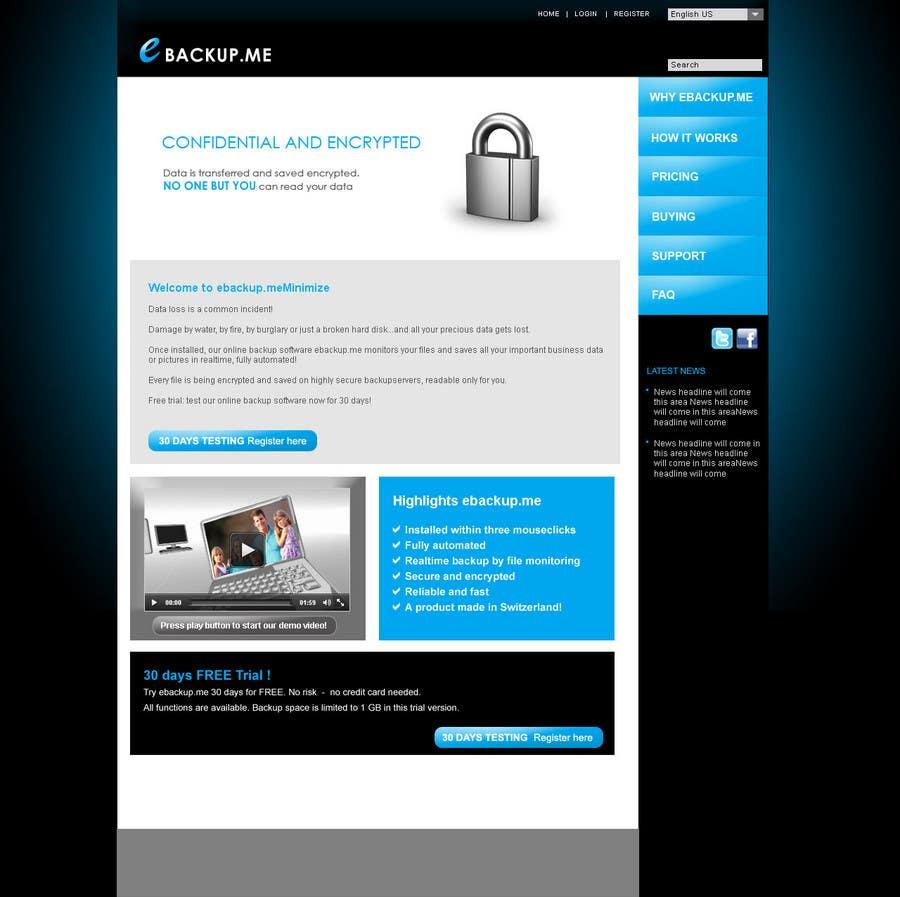 Contest Entry #                                        103                                      for                                         Website Design for Ebackup.me Online Backup Solution