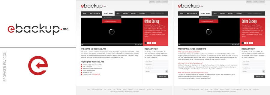 Конкурсная заявка №58 для Website Design for Ebackup.me Online Backup Solution