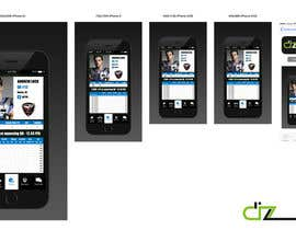 dizzoffice tarafından Design an App Mockup for an iPhone/iPad Fantasy Football application için no 6