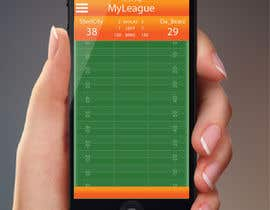 jessebauman tarafından Design an App Mockup for an iPhone/iPad Fantasy Football application için no 1