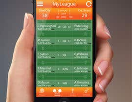 jessebauman tarafından Design an App Mockup for an iPhone/iPad Fantasy Football application için no 2